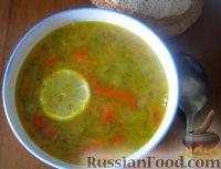 Суп овощной с чечевицей и сладким перцем