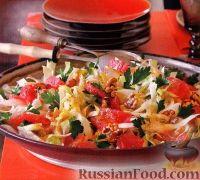 Салат из эндивия с грейпфрутом
