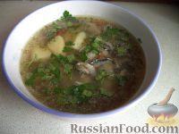 Суп картофельный с хамсой