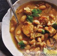 Куриный суп с фасолью и чили