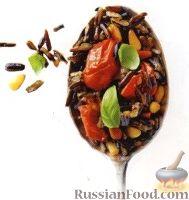 Дикий рис с помидорами и кедровыми орешками