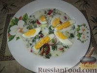 Холодный суп с черемшой