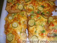 Пангасиус в сырно-овощной шапочке