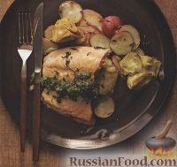 Картофель запеченый с лососем