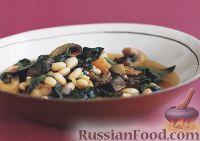 Картофельное рагу с грибами и фасолью