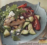 Салат с курицей и руколой (аругулой)