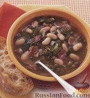 Суп с фасолью и беконом