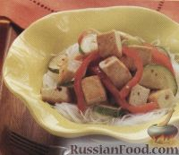 Овощное соте с сыром тофу