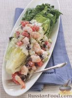 Греческий салат с йогуртовой заправкой