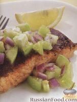 Жареное филе лосося с сальсой