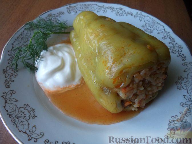 Перец, фаршированный рисом и грибами готов.  Приятного аппетита!