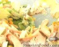 Куриный салат с киви