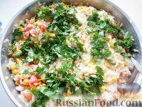 Рис с кукурузой и помидорами