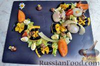 Салат с каракатицами и фарфалле