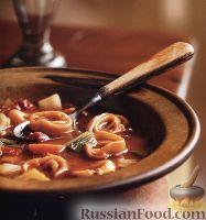 Томатный суп с тортеллини