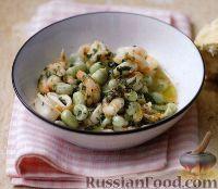 Рагу из морепродуктов с бобами