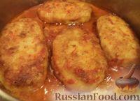 Рыбные котлеты под томатным соусом