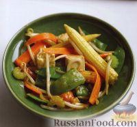 Овощи, жаренные с тофу