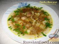 Суп с белыми грибами и гречкой