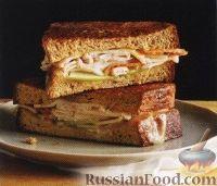 Бутерброды с индюшиной ветчиной и сыром