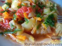 Овощное рагу с болгарским перцем