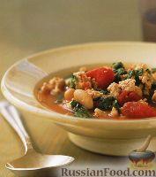 Фасолевый суп с индейкой и шпинатом