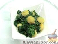 Тушеный картофель со шпинатом