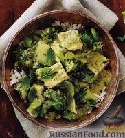 Рагу из брокколи и сыра тофу
