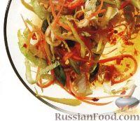 Овощной салат с пикантной заправкой