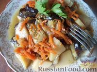 Рагу из баклажанов и картофеля