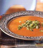 Чечевичный суп-пюре с яблочной сальсой