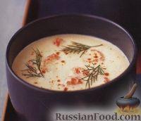 Суп с мясом раков