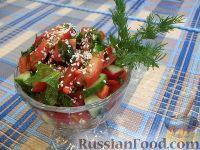Свеженький овощной салатик