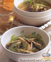 Суп чечевичный с черносливом и пореем
