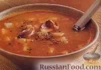 Картофельный суп с печеным чесноком