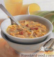 Куриный суп с фасолью и кукурузой