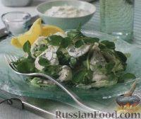 Салат с треской и зеленью