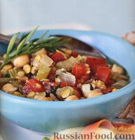 Овощное рагу с чечевицей и нутом