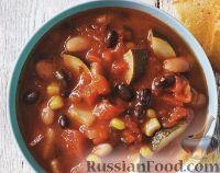 Рагу из фасоли, кукурузы и овощей