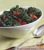 Салат из брокколи и помидоров-черри