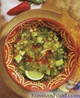Легкий куриный суп с авокадо