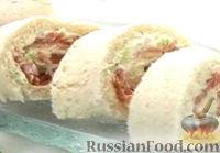 Сэндвич-ролл с копченым лососем