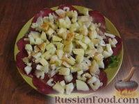 Закуска из вяленой ветчины и яблок