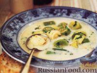 Молочный суп с пореем и овсянкой