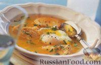 Чесночный суп с яйцами-пашот