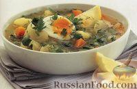 Суп из корнеплодов и шпината