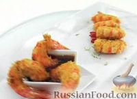 Жареные креветки с кокосом
