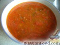 Томатный суп с чечевицей и картофелем
