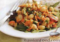 Салат из нута, моркови и редиски