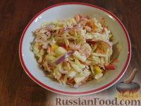 """Салат из капусты с креветками """"Праздничный"""""""